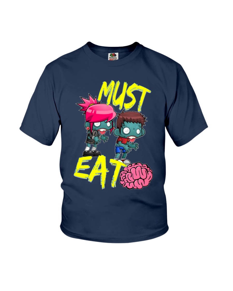 Must Eat Brains Zombies Youth T-Shirt