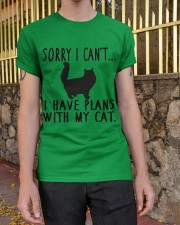Sorry I Cant I Have Plans with My Cat Classic T-Shirt apparel-classic-tshirt-lifestyle-21