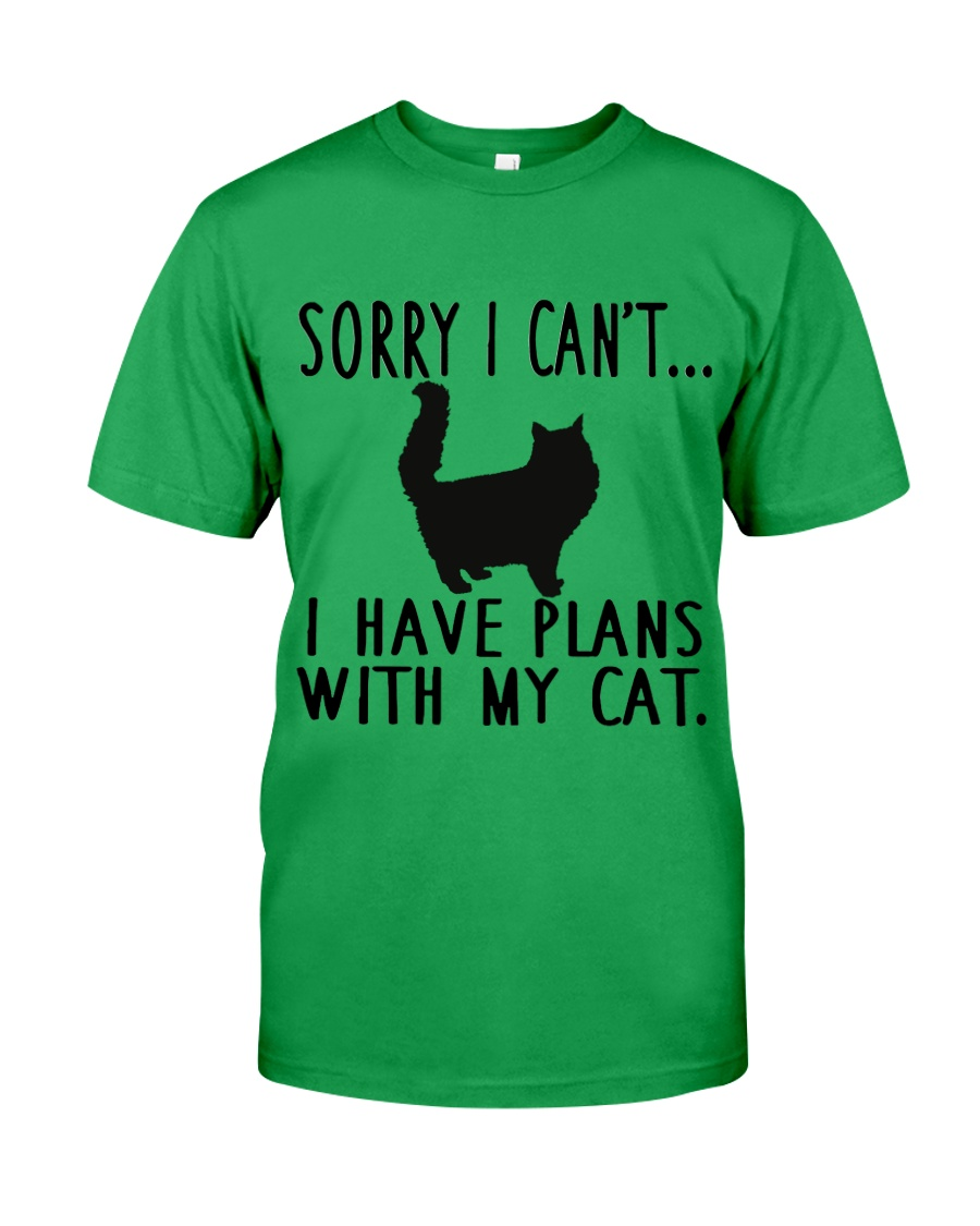 Sorry I Cant I Have Plans with My Cat Classic T-Shirt