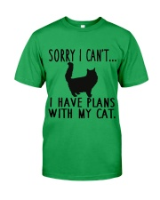 Sorry I Cant I Have Plans with My Cat Classic T-Shirt front