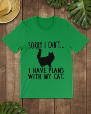 Sorry I Cant I Have Plans with My Cat Classic T-Shirt lifestyle-mens-crewneck-front-18