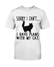 Sorry I Cant I Have Plans with My Cat Classic T-Shirt tile