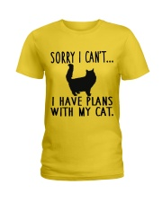 Sorry I Cant I Have Plans with My Cat Ladies T-Shirt thumbnail