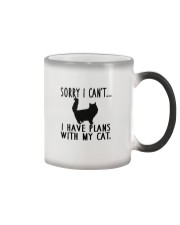 Sorry I Cant I Have Plans with My Cat Color Changing Mug thumbnail