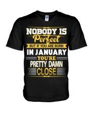 Born in January V-Neck T-Shirt thumbnail
