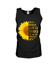 In a Wold full of Roses be a Sunflower Unisex Tank thumbnail