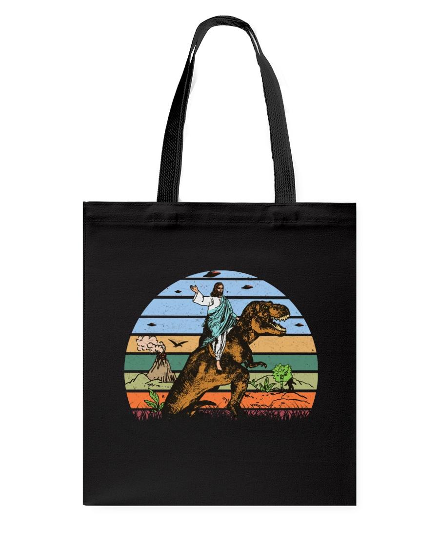 Jesus Riding Dinosaur Tote Bag