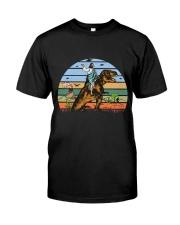 Jesus Riding Dinosaur Classic T-Shirt thumbnail