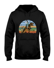 Jesus Riding Dinosaur Hooded Sweatshirt thumbnail