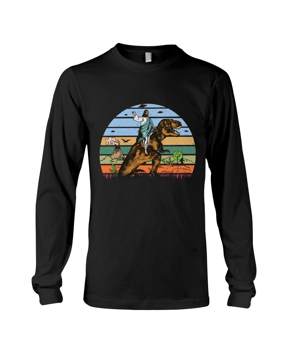 Jesus Riding Dinosaur Long Sleeve Tee