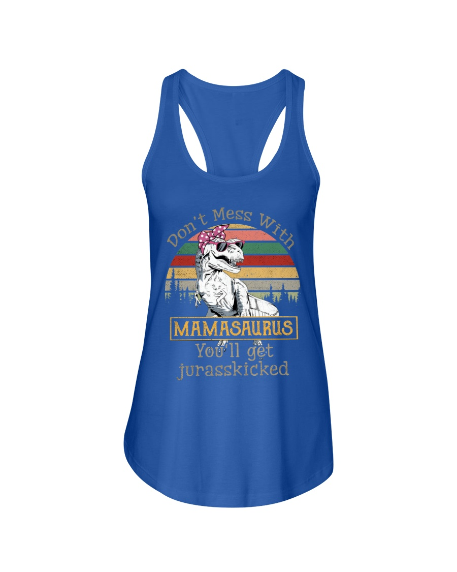 Don't Mess with Mamasaurus Ladies Flowy Tank