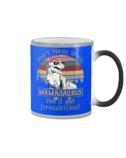Don't Mess with Mamasaurus Color Changing Mug color-changing-right