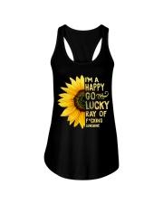 I'm a Happy Go Lucky Ray of Fucking Sunshine Ladies Flowy Tank thumbnail