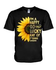 I'm a Happy Go Lucky Ray of Fucking Sunshine V-Neck T-Shirt thumbnail