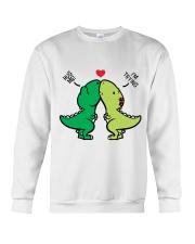 Funny Dinosaur Crewneck Sweatshirt thumbnail