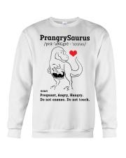 Funny Dinosaur PrangrySaurus Crewneck Sweatshirt thumbnail