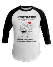 Funny Dinosaur PrangrySaurus Baseball Tee thumbnail