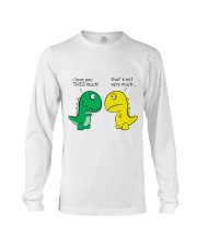 Funny Dinosaur - I Love You This Much Long Sleeve Tee thumbnail