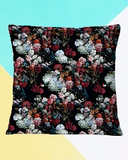Watercolor Flower Pattern Decorative Throw Pillow Square Pillowcase aos-pillow-square-front-lifestyle-13