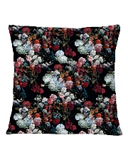Watercolor Flower Pattern Decorative Throw Pillow Square Pillowcase back