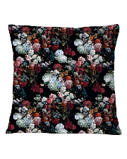 Watercolor Flower Pattern Decorative Throw Pillow Square Pillowcase front
