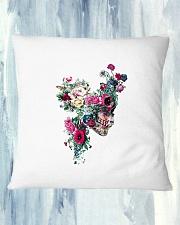 Flower Skull Pillowcase Square Pillowcase aos-pillow-square-front-lifestyle-27