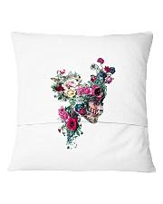Flower Skull Pillowcase Square Pillowcase back