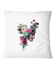 Flower Skull Pillowcase Square Pillowcase front