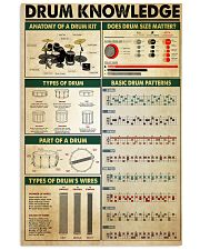 Drummer Drum Knowledge 11x17 Poster front