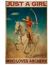Archery Just A Girl Who Loves Archery  11x17 Poster front