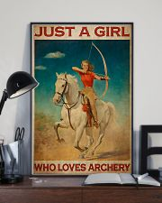 Archery Just A Girl Who Loves Archery  11x17 Poster lifestyle-poster-2