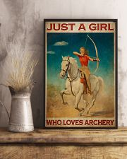 Archery Just A Girl Who Loves Archery  11x17 Poster lifestyle-poster-3