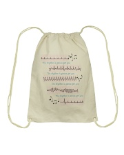 Rhythm Gonna Get You Cardiologist Drawstring Bag thumbnail