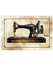 Sewing Machine Mends The Soul  17x11 Poster front