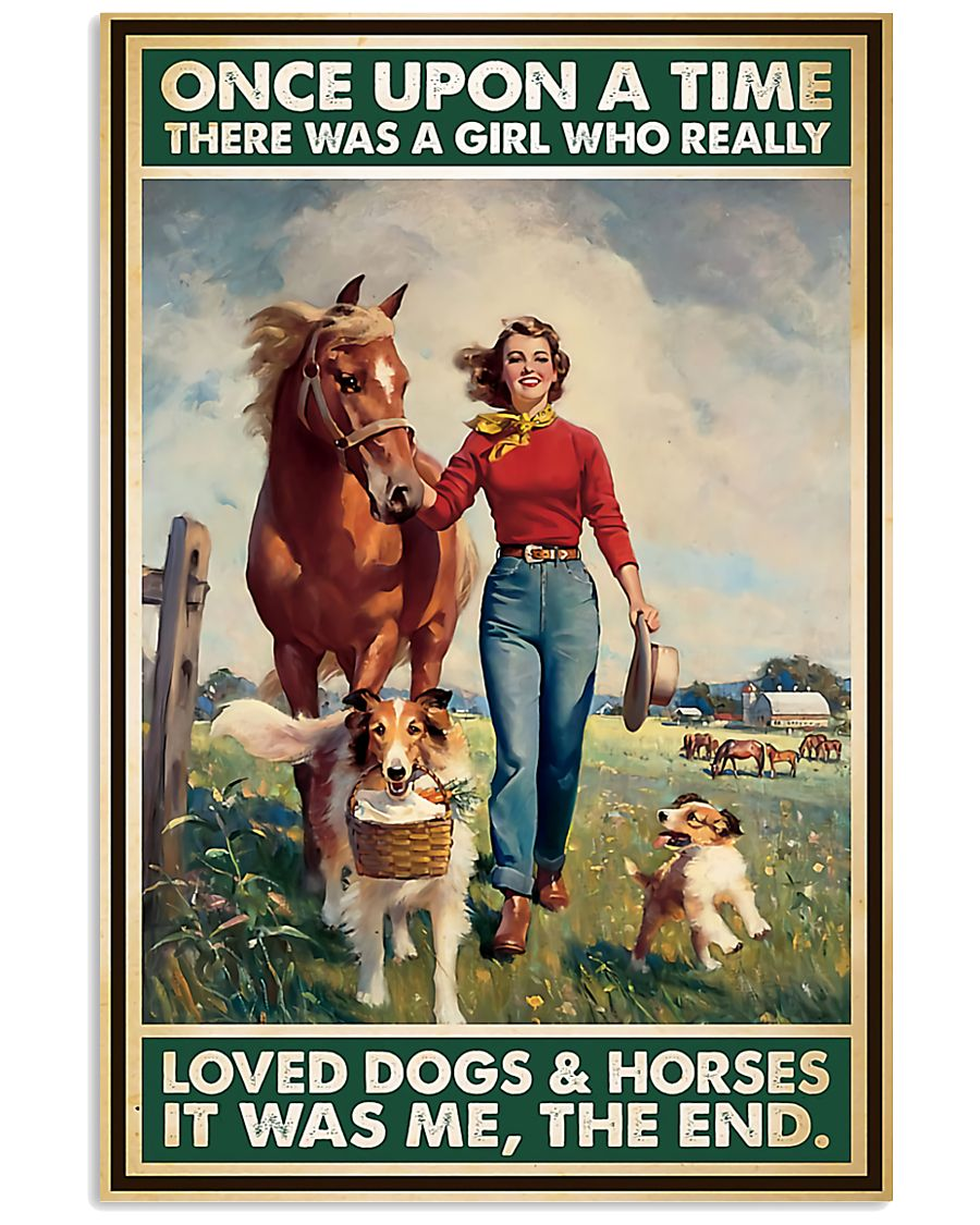 Horse Girl - Horses And Dogs 11x17 Poster