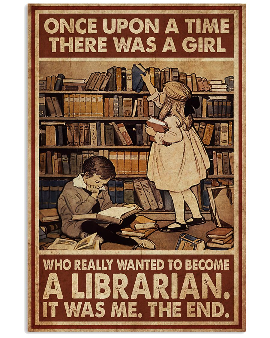 Librarian A Girl Wanted To Become A Librarian 24x36 Poster