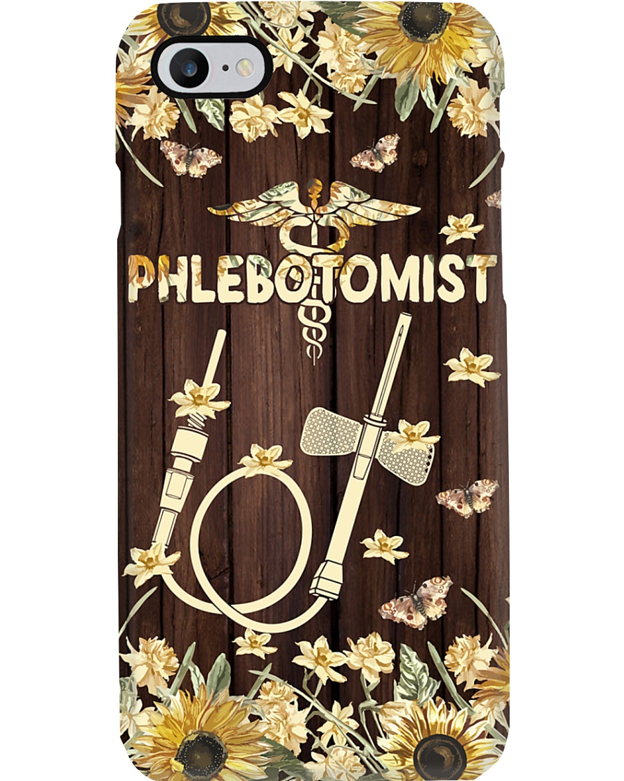 Phlebotomist - Floral butterfly needle Phone Case