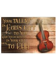 Viola - Your talent is god's gift 17x11 Poster front