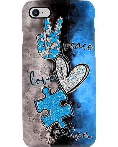 Autism Awareness Peace Love Autism Phonecase