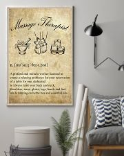 Massage Therapist Definition 11x17 Poster lifestyle-poster-1