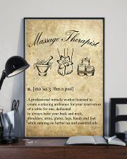 Massage Therapist Definition 11x17 Poster lifestyle-poster-2