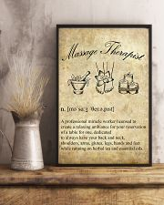 Massage Therapist Definition 11x17 Poster lifestyle-poster-3