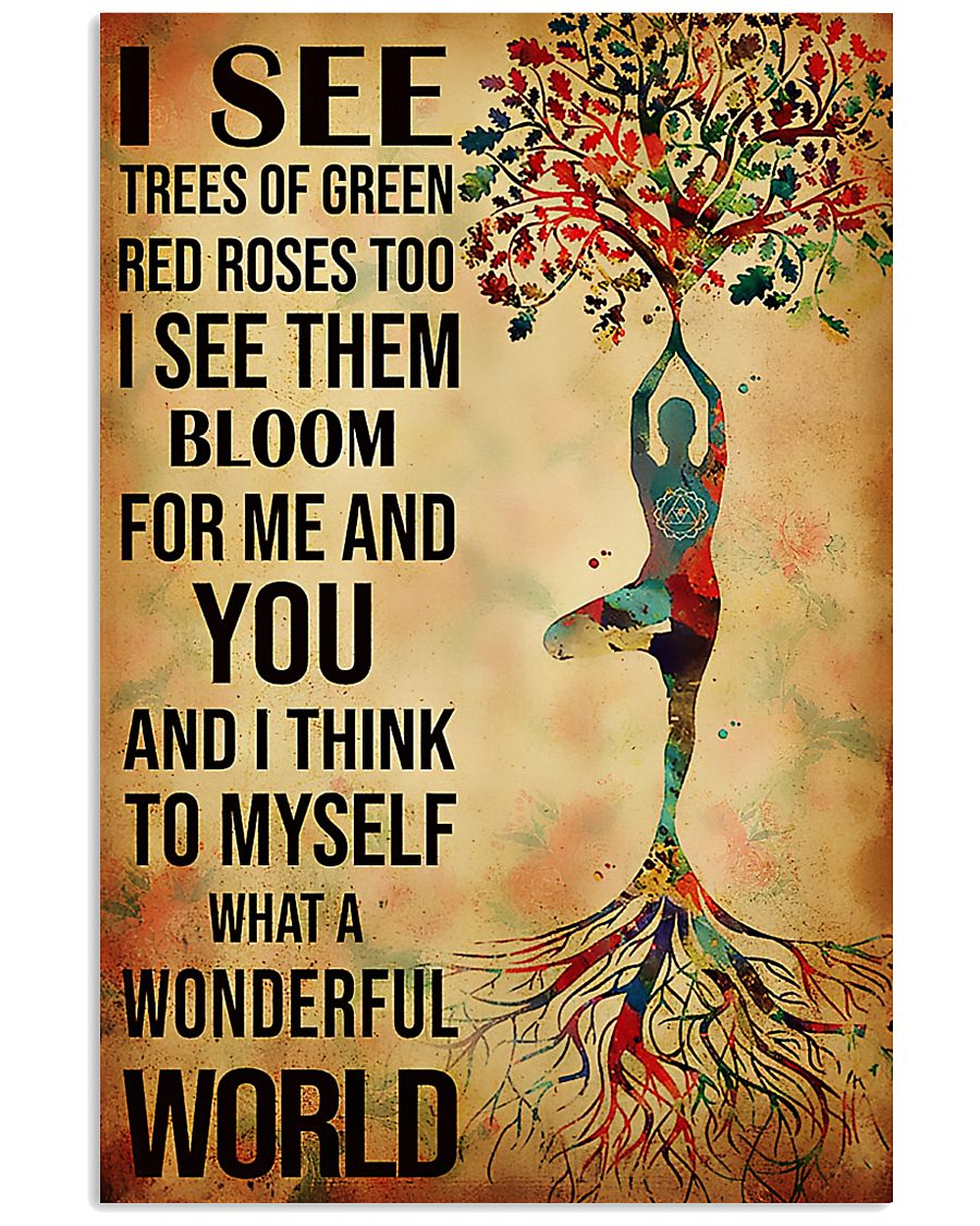 Yoga I See A Wonderful World 11x17 Poster