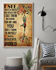 Yoga I See A Wonderful World 11x17 Poster lifestyle-poster-1