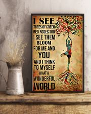 Yoga I See A Wonderful World 11x17 Poster lifestyle-poster-3