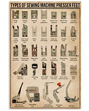 Sewing Types Of Sewing Machine Presser Feet 11x17 Poster front