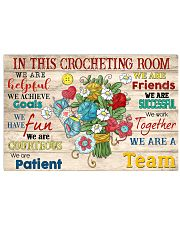 In This Crocheting Room We Are A Team 17x11 Poster front