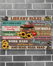 Library Rules 17x11 Poster poster-landscape-17x11-lifestyle-18