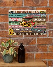 Library Rules 17x11 Poster poster-landscape-17x11-lifestyle-23