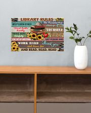 Library Rules 17x11 Poster poster-landscape-17x11-lifestyle-24